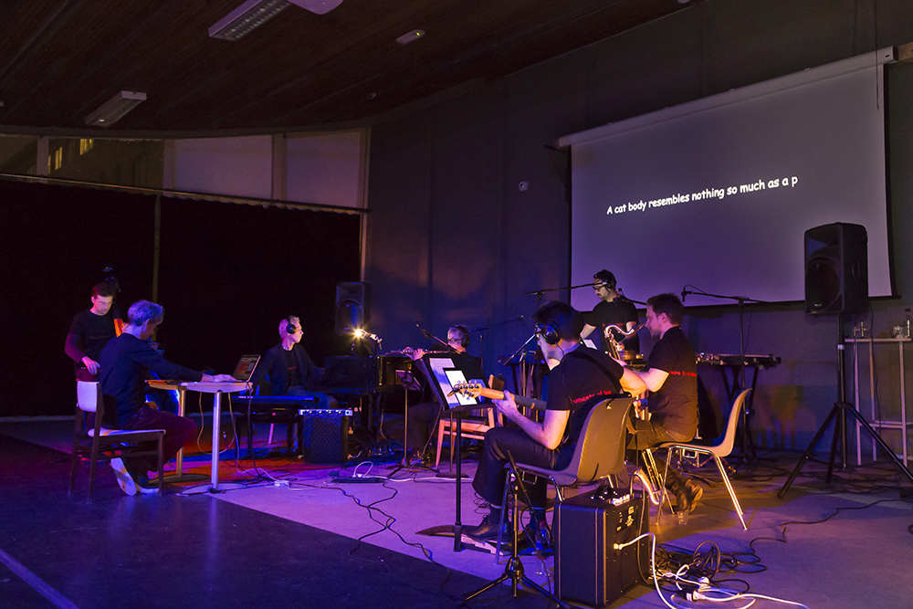 "Maze ensemble played ""The body initates the landscape""."